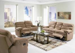light brown microfiber modern reclining sofa
