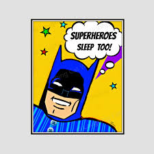 Superhero Comic Wall Decor by Superheroes Sleep Wall Art Cute Kid Comic Wall Art Funny