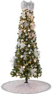 9 Ft White Pencil Christmas Tree by Christmas Marvelous Slim Christmas Tree Flocked Slim Artificial