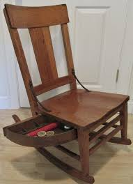 Unusual Early 1900's Phoenix Sewing Rocking Chair With Pull ...