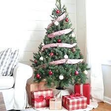 Decoration All White Tree Rustic Red And With Blue Ornaments Artificial Christmas Trees Country