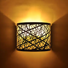 DIY Semi Circle Wall Lamp In Chrome With Nest Pattern Light At LightHotDeal