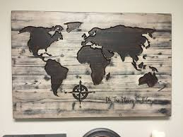 Extremely Creative Wall Art World Map With Best 20 Ideas On Pinterest