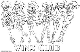 Winx All Girls Coloring Page