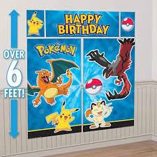 Halloween Scene Setters by Party Banner Wall Scene Setter Pokemon U2013 Party Majors