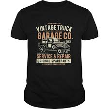 Classic Service & Repair Vintage Truck Parts Garage T-shirt ...