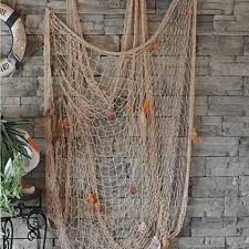dewel fischernetz mit muscheln fischernetz deko mit farbigen muscheln maritime deko netz dekoratives fischnetz für wand zimmer dekoration 150