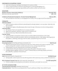 Accountant Resumes Examples Project Resume Example For Objective Senior Sample