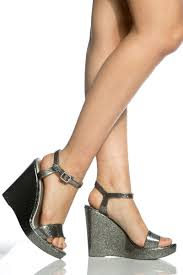 pewter jelly open toe ankle strap wedges cicihot wedges shoes