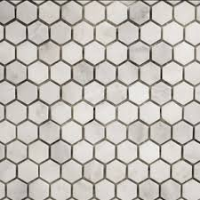 Usa Tile And Marble by Arabescato Pol Hexagon 1x1 Mo Arabescato Mosaics Materials