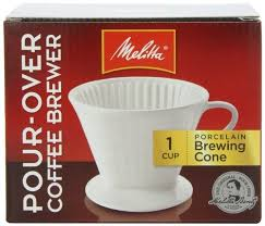 Melitta Coffee Maker Porcelain Cone Drip Brewer Pack Of 4