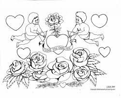 Coloriage D Amoureux Gratuit A Imprimer Tout Coloriage Amour Baiser