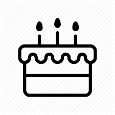 birthday cake candles celebration fire icon