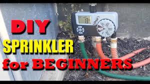 Hose Bib Timer Home Depot by Diy Sprinkler System Quick Install And Beginner Level Youtube