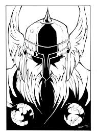 Thor Black and White by TheInkPages on DeviantArt
