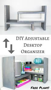 diy adjustable desktop organizer spice shelf easy woodworking