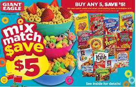 Giant Eagle Cereal Deal 2016