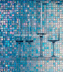 cheap price blue color mosaic 4mm glass mosaic for swimming