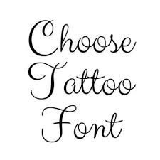 Calligraphy Fonts For Tattoo