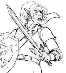 The Legend Of Zelda Ocarina Time Coloring Pages