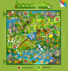 Insect Life Board Game Vector Image
