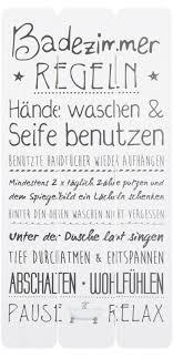 wandschild plankenschild badezimmerregeln ca 60 x 30 cm