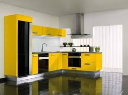 Country Kitchen Design In Yellow Black And Purple Colors Mediterranean Style