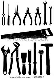 172 Best Tool Silhouettes Vectors Clipart Svg Templates Cutting Files Decals Images On Pinterest
