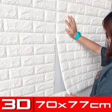 20 tlg 3d tapete selbstklebend steinoptik wandpaneele ziegelstein wandaufkleber