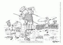 Free David And Goliath Coloring Page Printable 35527 At Throughout