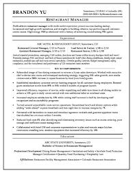 Grocery Store Resume Manager Skills Restaurant Supervisor Sto