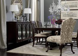 Love Dark Furniture Gray Walls With The Two Upholstered Chairs And Crystal Chandelier