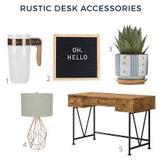 Rustic Desk Accessories For Your Home Office