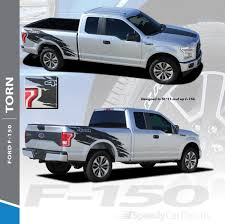 100 Ford Truck Decals TORN Stripes MATTE BLACK 2015 2016 2017 2018 2019