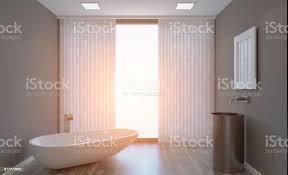 sauber und frisch badezimmer mit tageslicht 3drendering sonnenuntergang stockfoto und mehr bilder badewanne