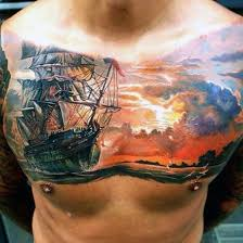 67 Amazing Cloud Chest Tattoos Ideas Made On