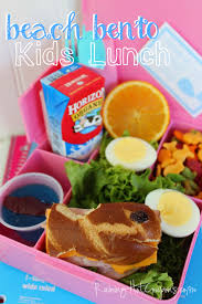 Beach Theme Ham And Cheese Bento Kids Lunch Idea BACK TO SCHOOL