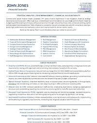 CFO Resume Example P1