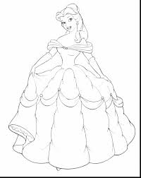Stunning Disney Princess Belle Coloring Pages With Beauty And The Beast