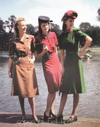 high resolution color 1940s war time utility fashion charlotte