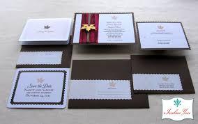 Fall Wedding Invitation Rustic Leaf