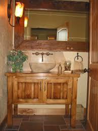 Bathroom Sink Vanities Design Rustic And Cabinets Twin Floating Lamps On Cream Tile Backsplash Luxury Black Faucet Dual