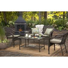 Garden Treasures Patio Furniture Cushions by Shop Garden Treasures Severson Cushion Loveseat At Lowes Com