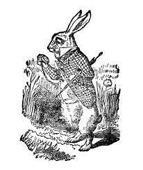 Alice In Wonderland Pumpkin Carving Patterns Free by Free Vintage Clip Art White Rabbit Alice In Wonderland