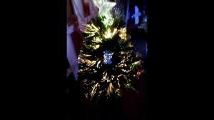 Small Fibre Optic Christmas Trees by Mini Rotating Multi Color Fibre Optic Christmas Tree Cq 1183 Youtube