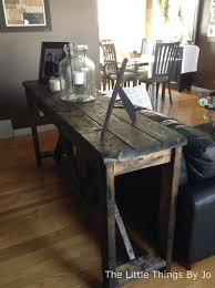 Diy Rustic Console Table Painted Furniture Woodworking Projects