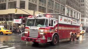 100 Fdny Fire Trucks And Engines Responding Compilation FDNY Rescue 1 With