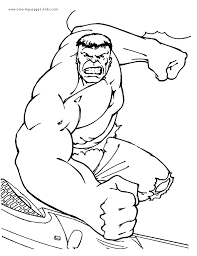 The Hulk More Free Printable Cartoon Character Coloring Pages