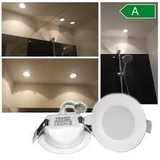 led einbaustrahler badezimmer flach 230v einbauspot ip44 bad strahler spot