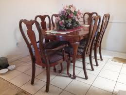 Vintage Queen Anne Dining Table Chairs